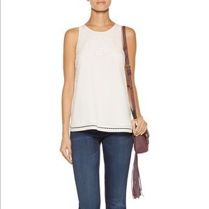 Joie Perdue embroidered silk top